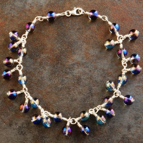 Purple Mystic Quartz Charm Bracelet 01 Full View