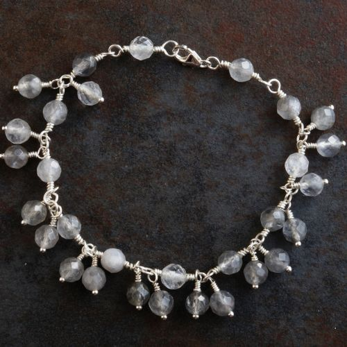 Silver Rutilated Quartz Charm Bracelet 01 Full View
