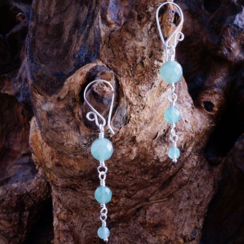 Reverse Aventurine Dangle Earrings 02