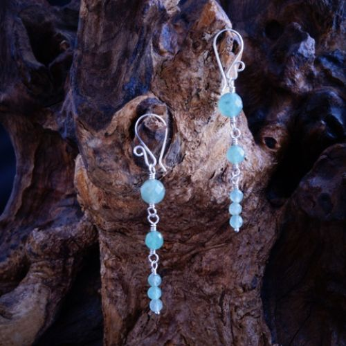 Reverse Aventurine Dangle Earrings 03