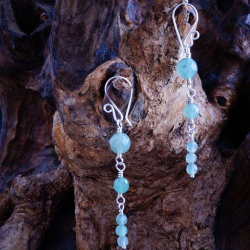 Reverse Aventurine Dangle Earrings 03 Full View
