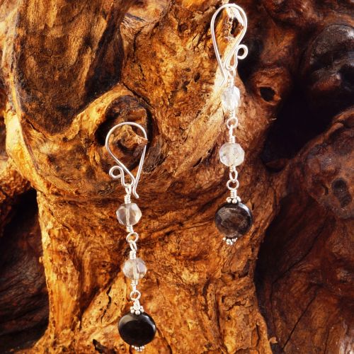 Labradorite Mica Earrings 02 Full View
