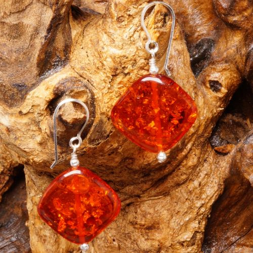 Amber Diamond Earrings 03 Full View