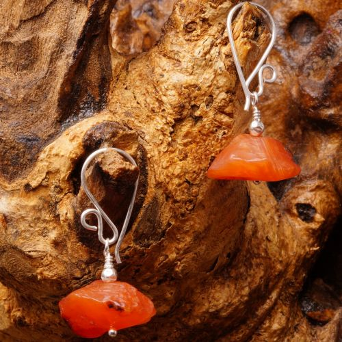 Carnelian Earrings 03 Fullview