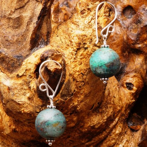 Chysocolla Cuprite Earrings 05 Fullview