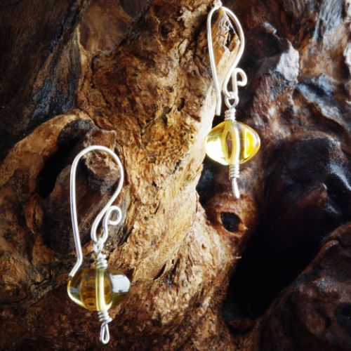 Pumpkin Citrine Earrings 01 Full View