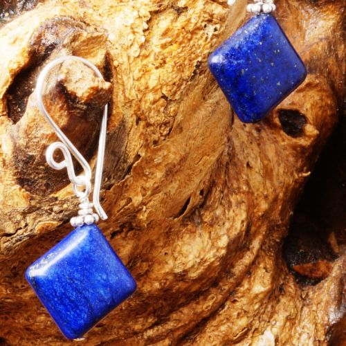 Lapis Lazuli Earrings 06 Closeup