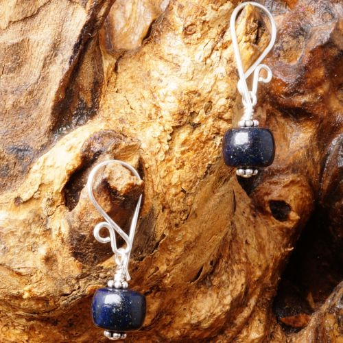 Lapis Lazuli Earrings 09 Full View