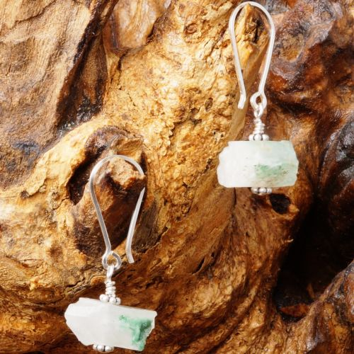 Natural Green Quartz Earrings 03 Full View