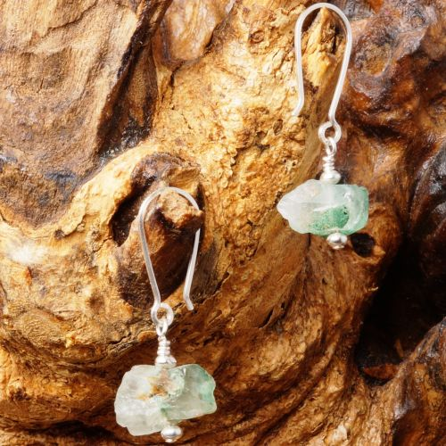 Natural Green Quartz Earrings 04 Full View