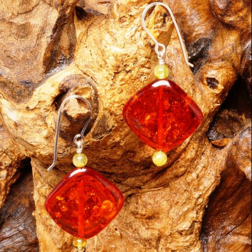 Peridot Amber Diamond Earrings 01 Full View