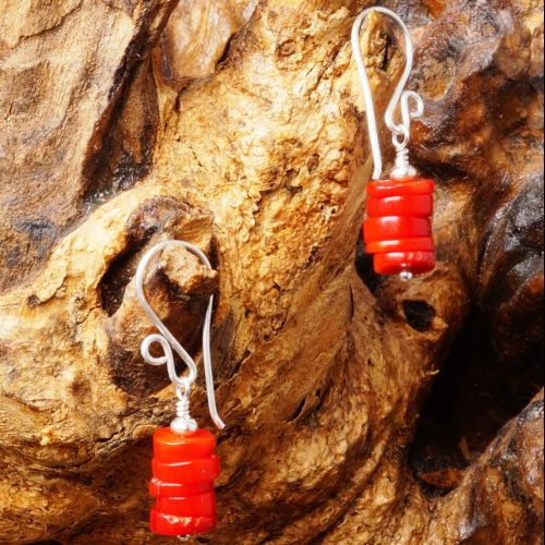 Red Coral Earrings 02 Full View