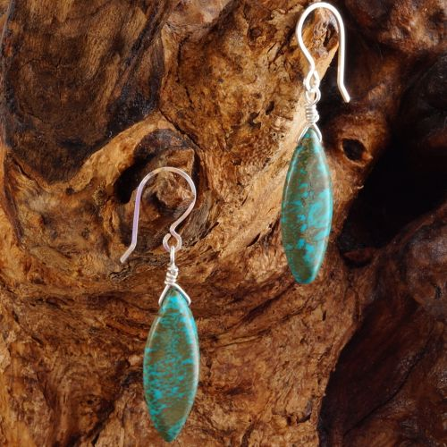 Turquoise Earrings 03 Full View