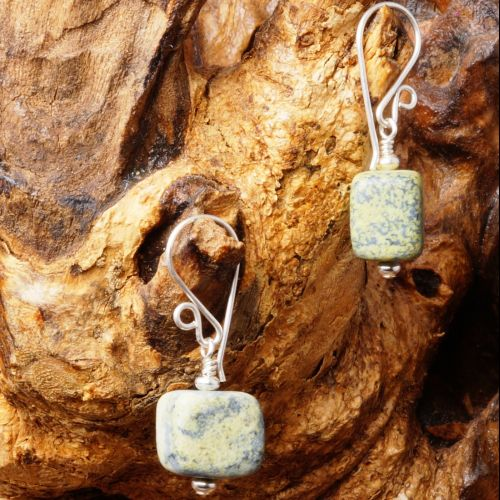 Yellow Turquoise Earrings 01 Full View