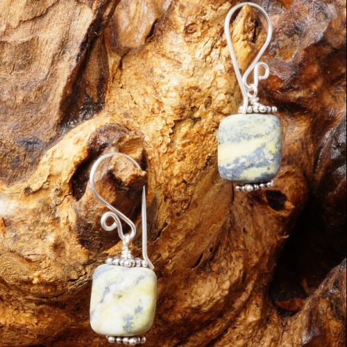 Yellow Turquoise Earrings 02 Full View