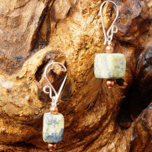 Yellow Turquoise Earrings 03 Full View