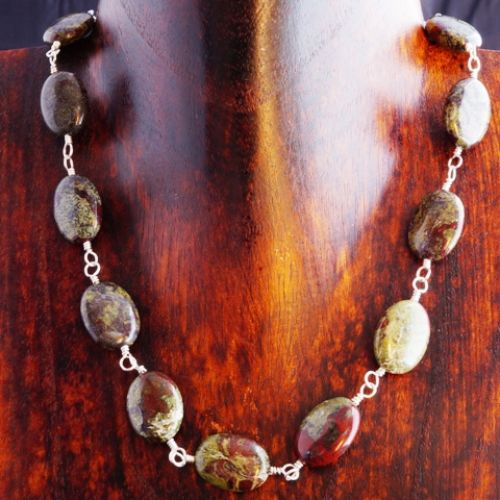Dragon Blood Jasper Choker 02 Full View