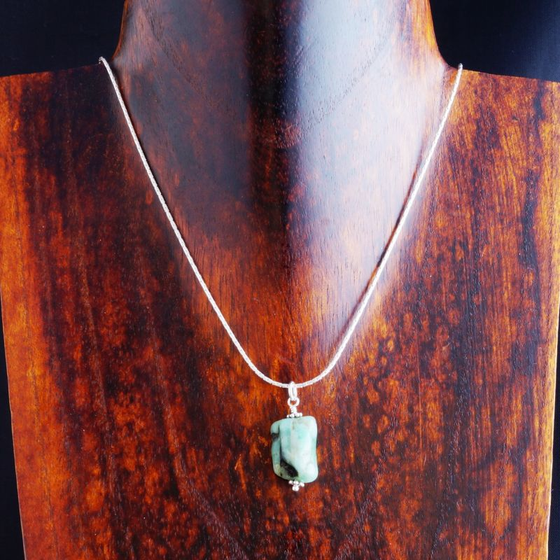 necklace with solitaire diamond bail natural itm sl emerald heart aa twisted pendant