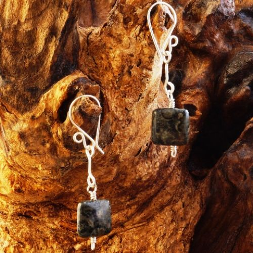 Suspended Kambaba Jasper Earrings 01 Full View