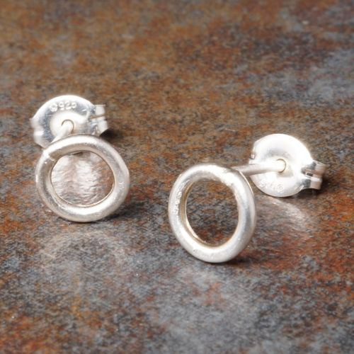 Round Sterling Silver Studs - Small
