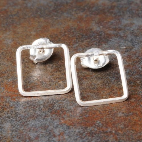 Square Sterling Silver Studs - Large Full View